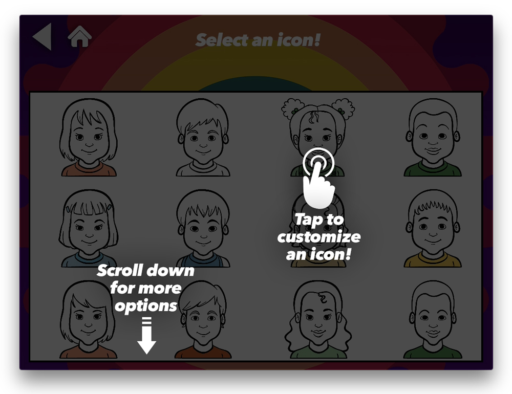 iCircles App tutorial Select An Icon